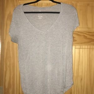 Size Medium American Eagle Striped T-Shirt